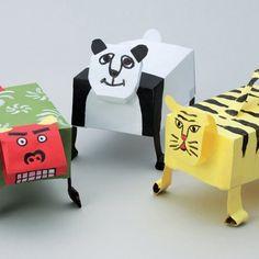 Jouer avec les zubonbo, les animaux en papier animés !
