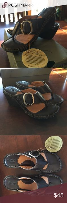 NWT Born Sandals Never worn genuine leather sandals. Great for spring and summer to wear with crops, skirts, dresses, and bermuda shorts. Size 7/38 Born Shoes Sandals