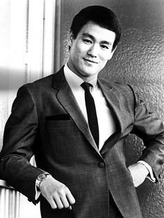 Bruce Lee. so young and handsome