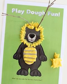 The Very Cranky Bear - play dough mats for kids! Love this idea for a fine motor activity!