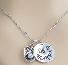 Inspired Silver My Sports Number Circle Charm Baseball Glove Toggle Charm Bracelet Number 90