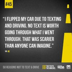Apart from this, the distracted driving campaign also features some of the best slogans and quotes that we have seen. Texting While Driving, Distracted Driving, Drunk Driving, Driving School, Drive Safe Quotes, Driving Quotes, Dont Text And Drive, Dont Drink And Drive, Expository Essay Examples