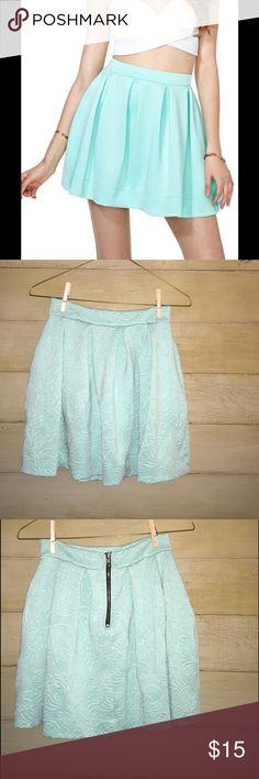 Nasty Gal Scuba Skater Skirt Mint Scuba Skater Skirt Mint - worn 3x Nasty Gal Skirts Circle & Skater