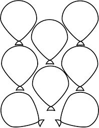 Large balloon pattern. Use the printable pattern for