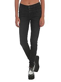 HOTTOPIC.COM - LOVEsick Black High-Waisted Skinny Jeans
