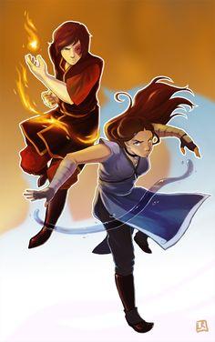 Avatar - Katara and Zuko by *ladyjenise on deviantART