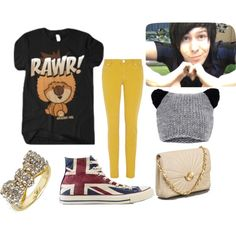 """""""Phil Lester Inspired"""" by coolgummy on Polyvore. Girls outfit inspired by Phil? Okay. He's also awesome and sweet. Another awesome Youtuber :)"""