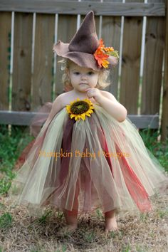 Scarecrow Fall Witch Tutu Dress by pumpkinbabydesigns on Etsy, $50.00