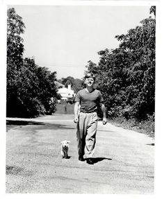 0 Mickey Rooney walking with his dog Sealyham Terrier, Fox Terrier, Terriers, Dog Photos, Dog Pictures, Wire Haired Terrier, The Kennel Club, Classic Movie Stars, West Highland Terrier
