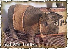 ePattern Dem Hogs!! Primitive Pig Bowl Fillers Sewing Pattern PDF File Instant Download
