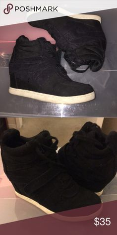 Black sneaker wedges Great condition Report Shoes Ankle Boots & Booties