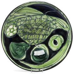 "Jan Sowinski, faience decorative bowl ""Kapelusz"", model # 287, 1960s. Faience Factory ""Wloclawek"" in Wloclawek, Poland. Sold at auction 2016."