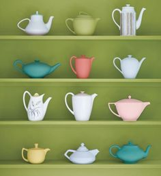 Array of lovely teapots