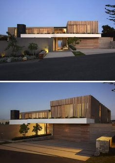 From the street this house seems unassuming, with touches of wood, white and…