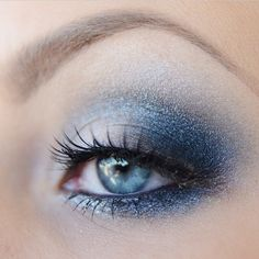 I wish this is what our eye make-up looked like for dance of the snowflakes. Dance Makeup, Prom Makeup, Wedding Makeup, Hair Makeup, Beautiful Eye Makeup, Pretty Makeup, Beautiful Eyes, Makeup Tips, Beauty Makeup