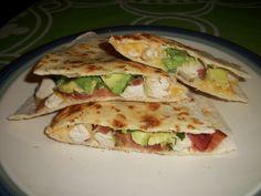 Chicken, Bacon and Avocado Quesadillas