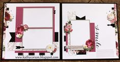 National Scrapbook Month-Live Beautifully 2-page layout. Get your Live Beautifully Kit in May!