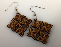 Dangle Celtic knot earrings laser cut laser by bubbashop1971, $9.99