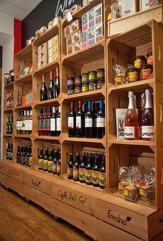retail food market shelving - Google Search