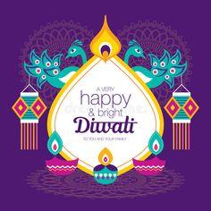 Happy Diwali. Diwali Hindu festival greeting card with modern elements , #Affiliate, #Hindu, #festival, #Happy, #Diwali, #modern #ad