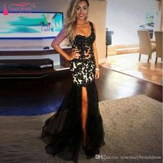 Black One Shoulder Lace Prom Dress Mermaid Modest Evening Dresses Tulle Skirts Zipper Back Long Party Formal Dresses Z1112 Prom Dresses 2016 Party Dresses Arabic Evening Dresses 2016 Online with $154.29/Piece on Rosemarybridaldress's Store   DHgate.com