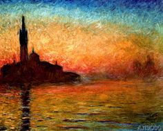 Claude Monet - View of San Giorgio Maggiore, Venice by Twilight, 1908️More Pins Like This At FOSTERGINGER @ Pinterest♓️