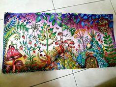 Mushrooms landscape enchanted forest by Nur Syazweni Omar