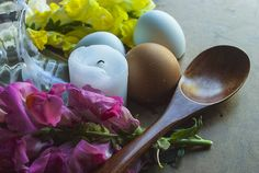 """recreationalwitchcraft: """" Outside: • Collect spring flowers • Leave offerings to your garden • Set out sweet food for the Fae • Scatter eggshells to fertilize the soil •  Make waterers for Bees and..."""