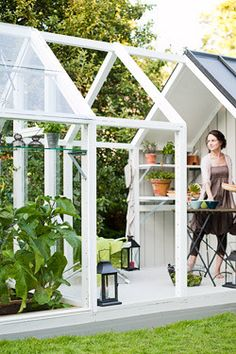 Maybe I can get a mini greenhouse added to the shed we're planning to build for the lawnmower/snowblower?