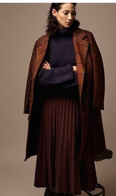 Abrigo paño cuadros tartán Boutique, Tartan, Sweaters, Dresses, Fashion, Fall Winter, Clothing, Vestidos, Moda