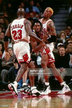 The GOAT and Dennis Rodman big brother a young heir apparent Kobe Bryant in Chicago.