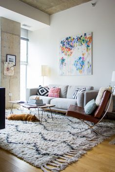 Use abstract paintings in your home decor to create an interesting conversation piece.