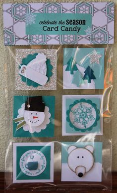 Stampin' Sarah! Stampin' Up! UK Convention Card Candy 2013. Christmas punch art using Stampin' Up! products.