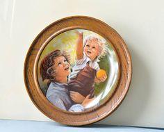Vintage Collector Plate with Wood Frame 1983 by LaceFashion  sc 1 st  Pinterest & Van Hygan \u0026 Smythe Collector Plate Frame Cherry Wood Color | Wood ...