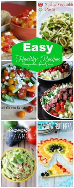 Easy Healthy Recipes Ideas!  Can always use some new ideas.