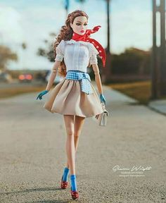 Fashion Doll Dorothy in Wizard of Oz inspired outfit