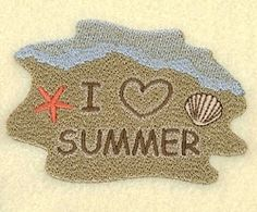 I Love Summer - 4x4   What's New   Machine Embroidery Designs   SWAKembroidery.com Starbird Stock Designs