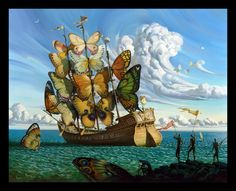Salvador Dalí ~ Butterfly Ship