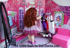 """""""Dr Di, Dr Di, Can you help me?"""" Dr Di was surprised when she found who was requesting her help….Fancy Nancy (a rescue doll from Goodwill), was in desperate need of a clean up, … Nancy Doll, Can You Help Me, Fancy Nancy, Wellie Wishers, Doll Hair, Diy Doll, Diana, Tulle, Board"""