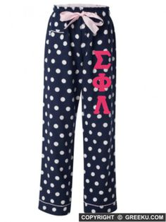 Sigma Phi Lambda Flannel Pajama Pants....i love these