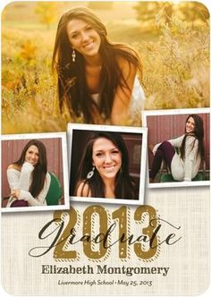 Southern Style - Graduation Announcements - Fine Moments - Umber Brown with rounded corner trim option. Graduation 2016, High School Graduation, Graduation Pictures, Grad Pics, Graduation Cards, Senior Invitations, Graduation Invitations, Invitation Ideas, Graduation Scrapbook