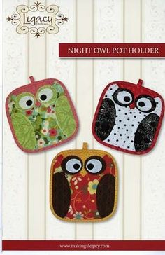 LEG9322 Legacy Patterns Night Owl Pot Holder