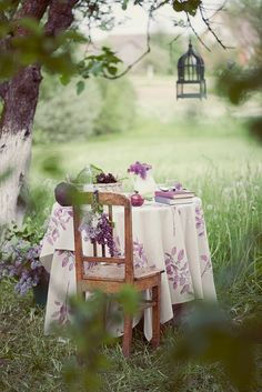 Table in the meadow!