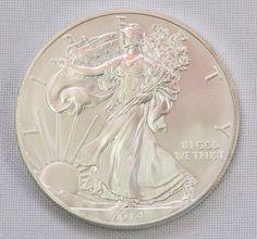 Numismática- Estados Unidos, 1 onça em prata pura, 2014
