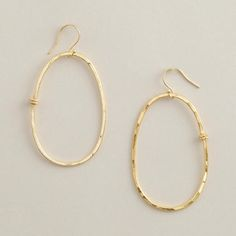 One of my favorite discoveries at WorldMarket.com: Large Gold Oval Hoop Earrings