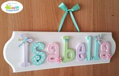Cute Crafts, Decor Crafts, Diy And Crafts, Crafts For Kids, Wood Crafts, Baby Decor, Kids Decor, Name Decorations, Nursery Letters