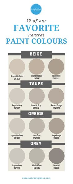 Find you favorite neutral paint colour and update your space.