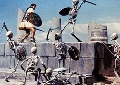 "My favorite scene from the 1963 movie ""Jason and the Argonauts."" - Todd Armstrong starred as Jason  and the stop-motion animation was done by Ray Harryhausen."