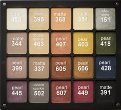 My First 20 eyeshadows palette freedom system from Inglot Cosmetics