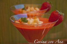 Gazpacho de fresas, Receta Petitchef Pudding, Hot, Cooking, Kitchen, Desserts, Recipes, Crema Fresca, Summer, Gastronomia